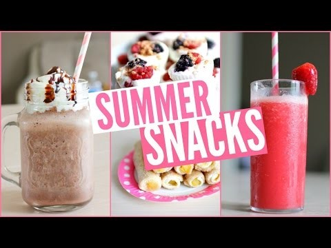 DIY | Snacks & boissons d'été - Summer snacks !