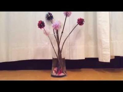 1 - D.I.Y - fleurs pompons