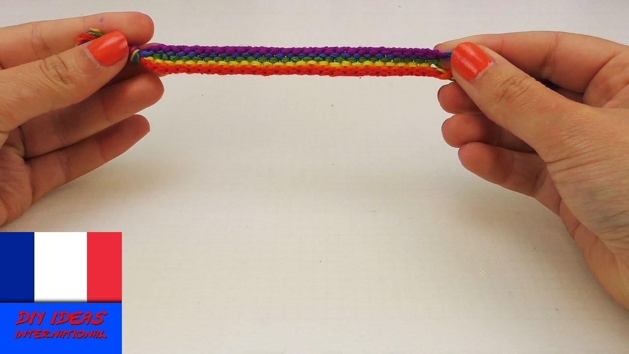 Bracelet en fils noués. noeuds multicolores. Bracelet DIY d'amitié