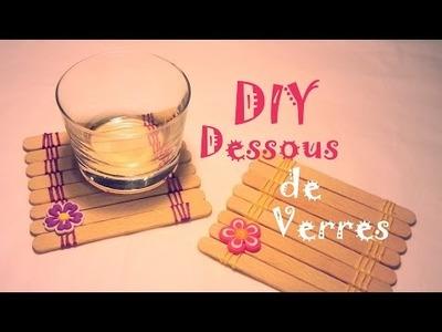 D.I.Y Comment faire des dessous de verres avec des bâtons de glaces
