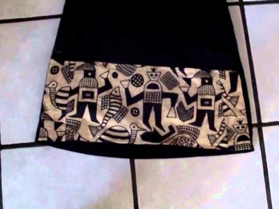 [DIY] customiser sa petite robe noire, avec du tissu pagne ( WAX)