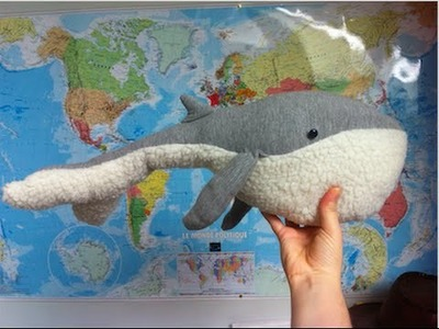 DIY Peluche baleine. Whale plush tuto