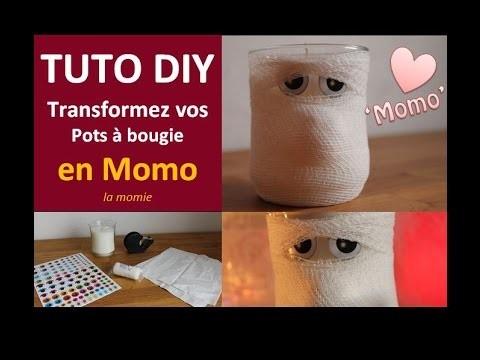 Tuto DIY Halloween Transformez vos pots à bougie en Momo Momie - Cécile Cloarec