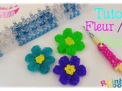 { Tuto } Fleur. Flower en élastiques Rainbow Loom