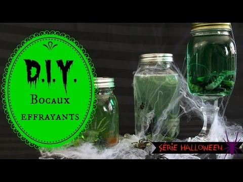 D.I.Y. Bocaux effrayants. Série Halloween. 2FillesOrdinaires