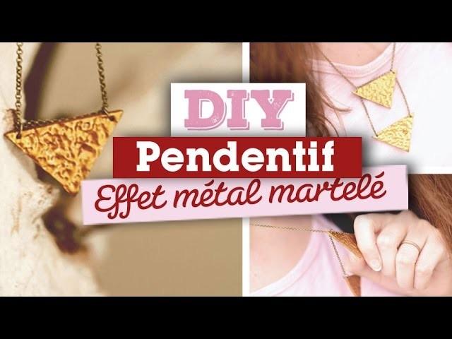DIY. Bijoux. Créer un pendentif en pâte fimo avec un effet métal