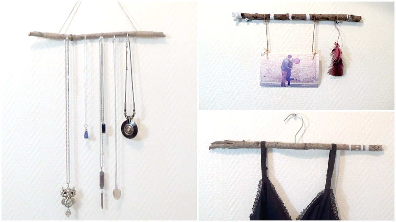 DIY│Branches Recyclées (Porte bijoux.Ceintre déco.Porte photo)  ▵ Alyssia
