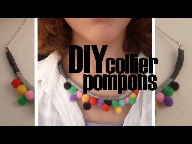 [DIY] Collier pompons pour l'été. Summer DIY