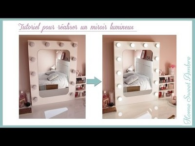 DIY Miroir lumineux maquillage pro - Vanity mirror with lights