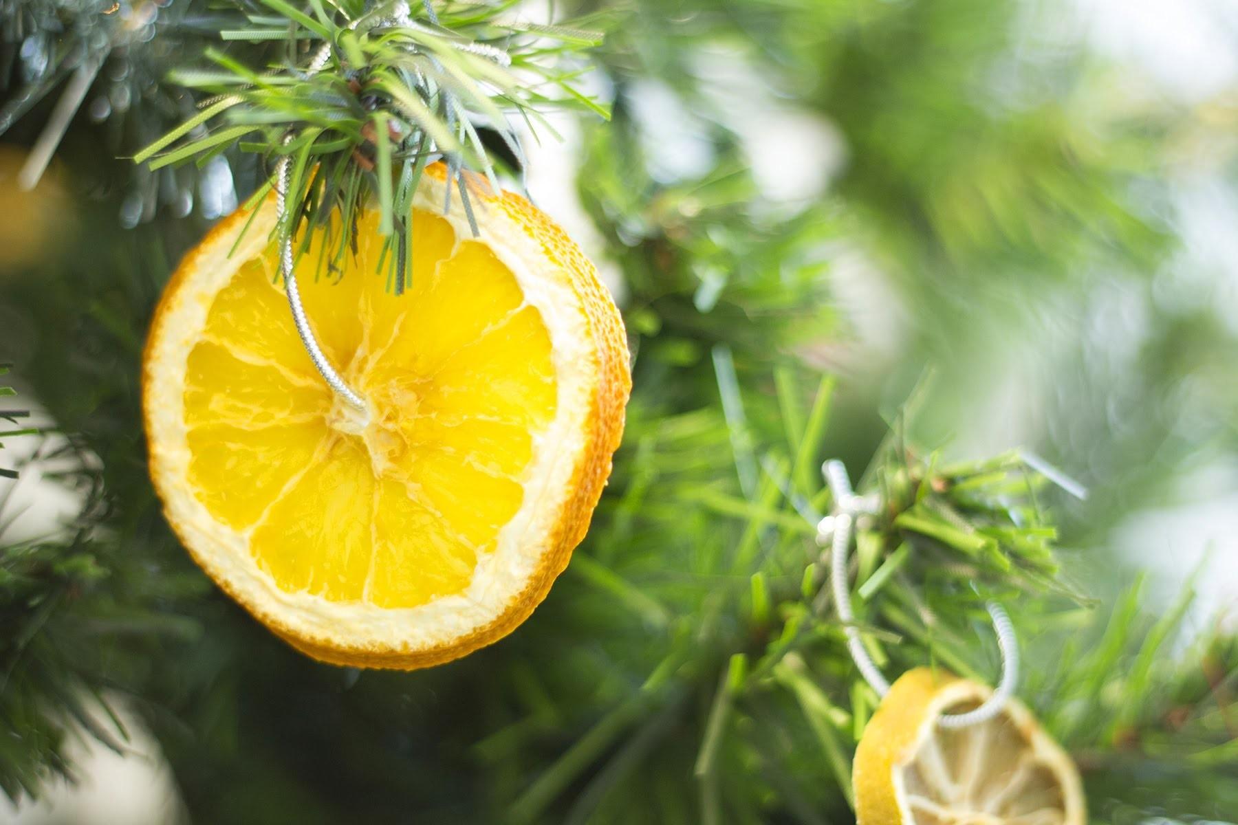 DIY Noël Agrumes séchés pour décoration naturelle de sapin de Noël