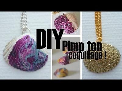 [DIY] Bijoux en coquillage décorés : marbré & pailleté. Summer DIY