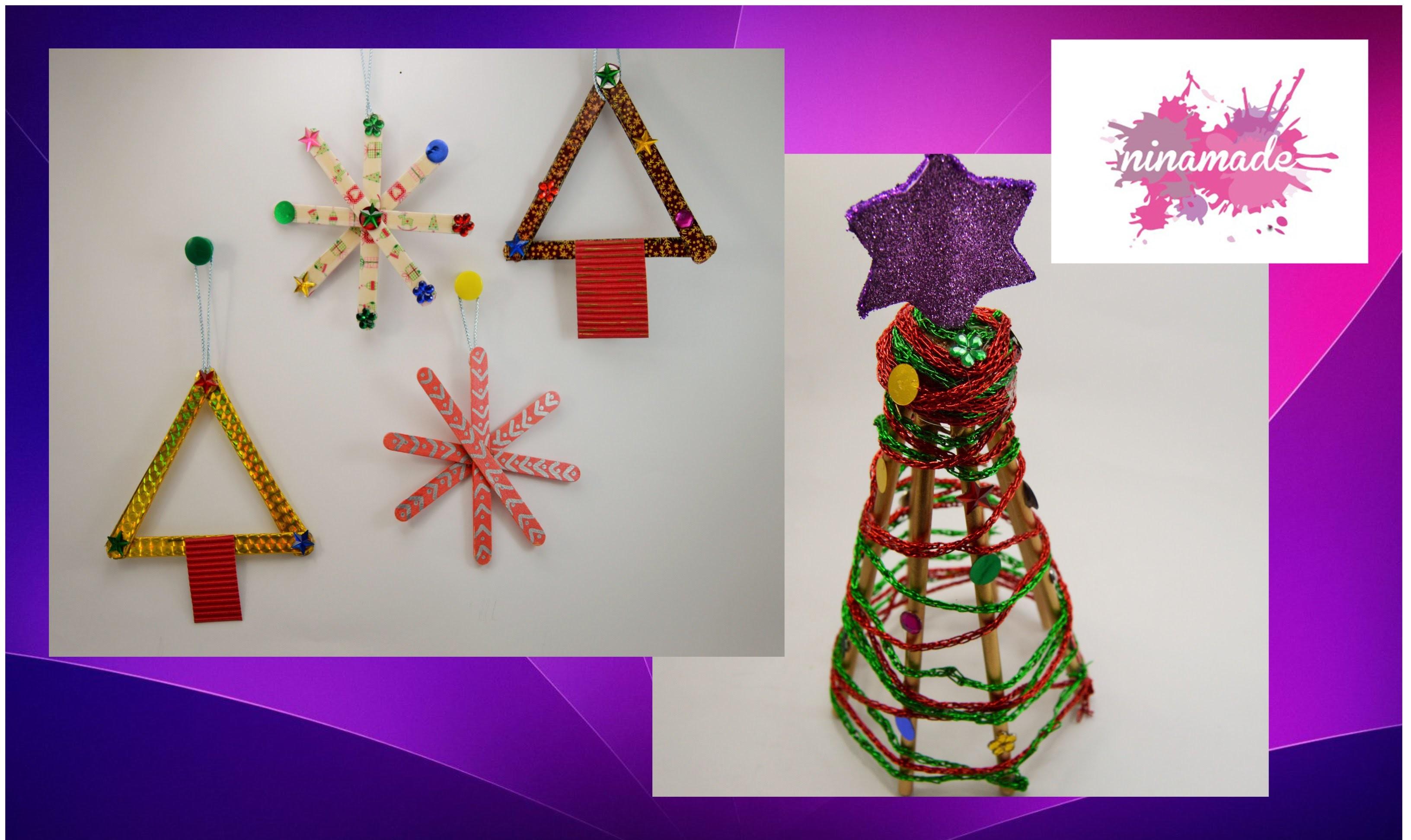 DIY. Déco pour Noël avec des bâtonets. Decorations for Christmas with sticks