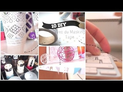 Que faire avec du Washi Tape ? 10 DIY! | 10 ways to use Washi Tape !