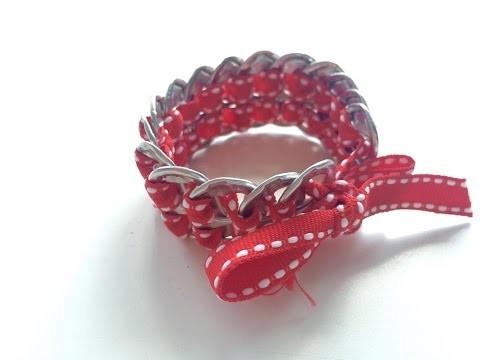 ☼ DIY ☼ ♡ Fabriquer un joli bracelet en capsules de canettes  ♡