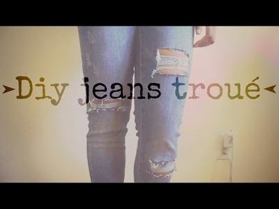 Diy Jeans Troué
