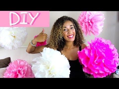 DIY Pompoms - DECO CHIC, FACILE & PAS CHER !! Mariage, baptême, anniversaire, noël,.