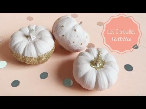 DIY Déco Halloween ♡ Les Citrouilles à Paillettes