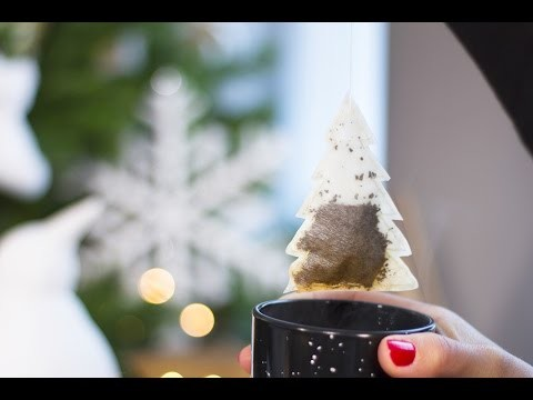 DIY Noël -  Sachet de thé en forme de sapin