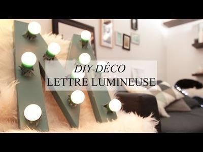 DIY DÉCO : LETTRE LUMINEUSE