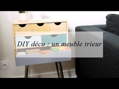 DIY déco : un meuble de rangement customisé