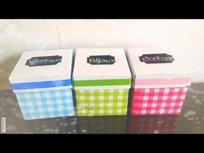 D.I.Y~décorer des boîtes avec des serviettes en papier