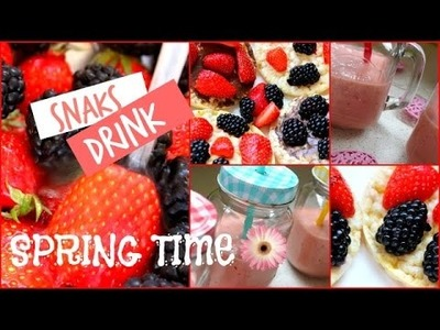 DIY snacks & drink l Spring time W. UneIdéeDeJumelles ♡