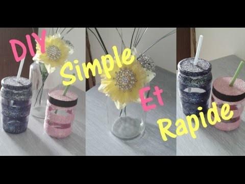DIY [ Fleur Personnalisé Et Pot Mason ]