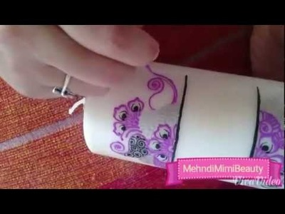 Diy Mehndi candle. bougie henna
