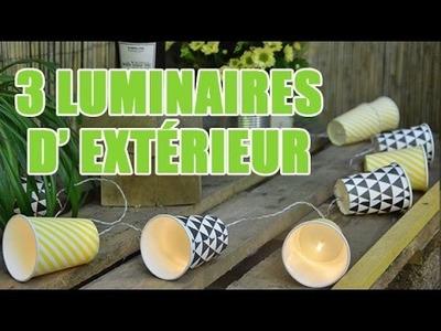 3 idées pour créer des luminaires d'extérieur - DIY avec youMAKEfashion