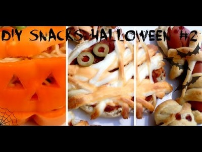 DIY #2 l 4 Snacks-Repas pour l'Halloween. #Kalloween
