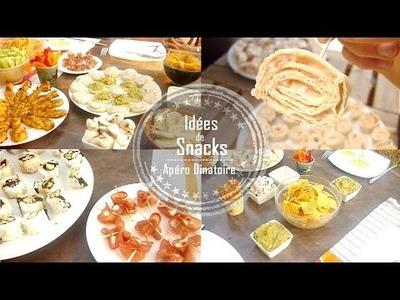 DIY | Idées de Snacks pour un Apéritif Dinatoire - Claire