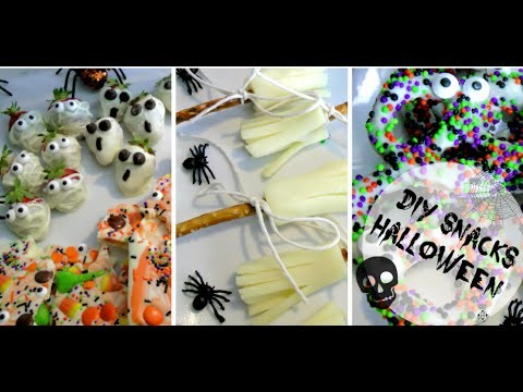 DIY l 4 Snacks pour l'Halloween. #Kalloween