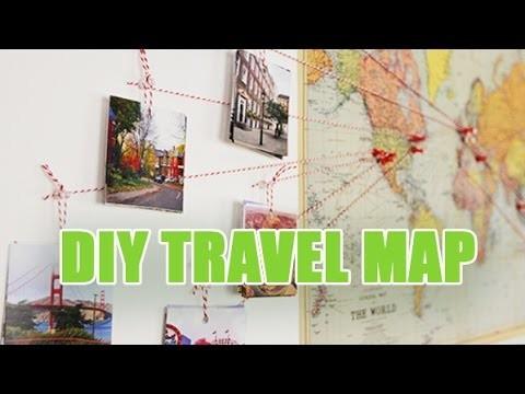 Travel map - DIY Carte du monde décorative avec vos photos - avec youMAKEfashion