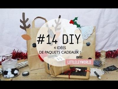 #14 DIY. 4 idées de paquets cadeaux [ avec LITTLELEYWORLD ]