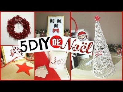 5 DIY DECOS DE NOEL : Sapin de noel, coussin, couronne.