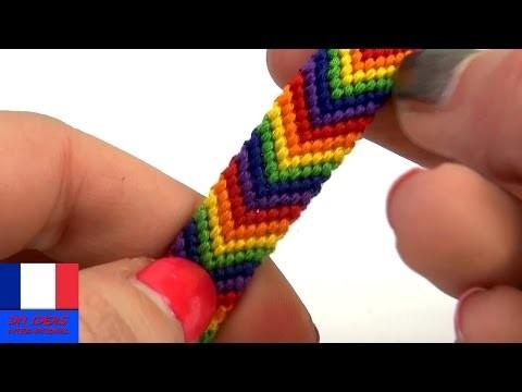 Bracelet DIY. Bracelet d'amitié en fils de laine. Instructions en français