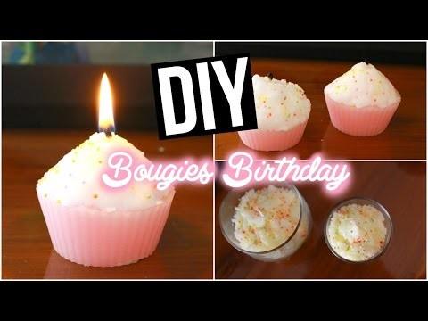 DIY ♡ Bougies Gâteau Anniversaire I Candle Birthday  I DIY Français