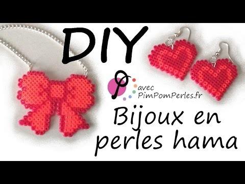 DIY #8 - Créer des bijoux avec des petites perles Hama [PimPomPerles.fr]. Hama beads jewels