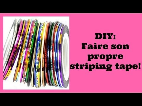 DIY: faire son propre striping tape!