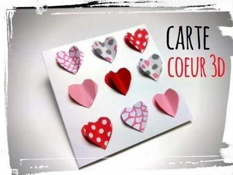 Diy saint valentin : carte coeurs 3D
