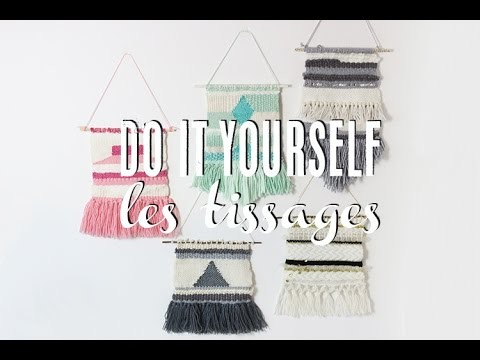 DIY - Tissage - Wall Weaving with an homemade loom (english subtitles)