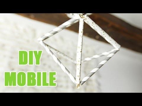 Fabriquez votre mobile design à partir de pailles en papier - DIY avec youMAKEfashion