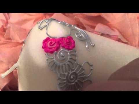 Henna motif floral Diy. henna candle تزيين الشمع برسوم الحناء