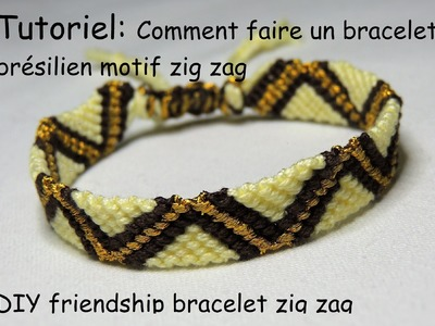 Comment faire un bracelet brésilien motif zig zag (DIY friendship bracelet zig zag)