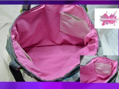 DIY. Comment faire une doublure pour sac à main.How to make a lining for handbag