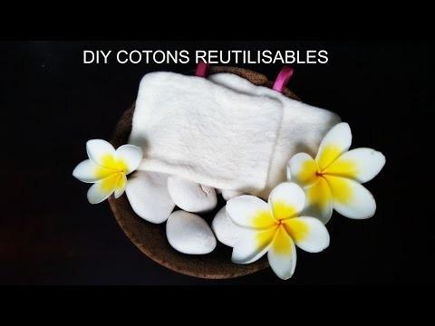 DIY Cotons réutilisables et lavables ZERO DECHET