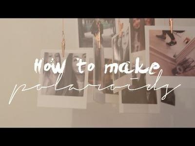 DIY. faire des POLAROÏDS soi-même♡ | UrbanMode (Lou)