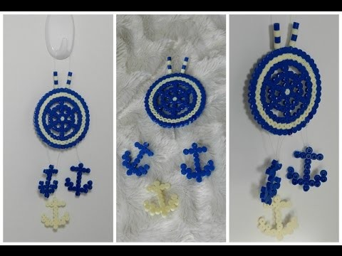 [ DIY ] Hama beads dreamcatcher . Attrape-rêves en perles hama