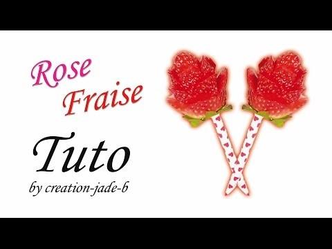 DIY Saint-Valentin - Rose en Fraise !