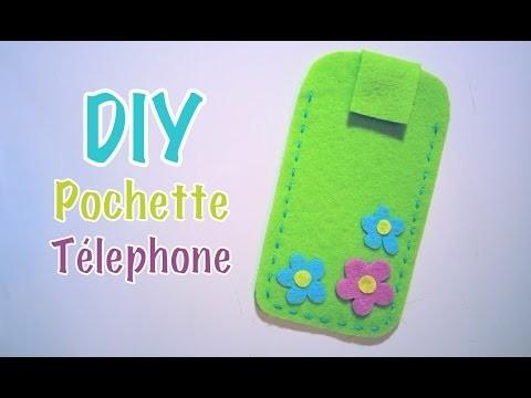 DIY Pochette téléphone portable avec feutrine